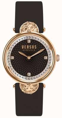 Versus Versace レディースビクトリアハーバーブルゴーニュレザーストラップ SP33150018
