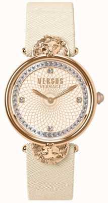 Versus Versace レディースビクトリアハーバークリームレザーストラップローズダイヤル VSP33130018