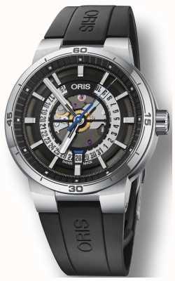 Oris ウィリアムズtt1エンジンシリコンラバーストラップスケルトンダイヤル 01 733 7752 4124-07 4 24 06FC