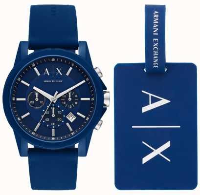 Armani Exchange メンズスポーツ時計ギフトセット AX7107