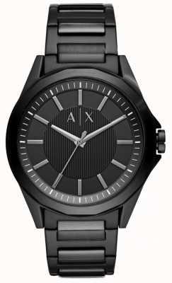 Armani Exchange メンズブラックステンレス AX2620