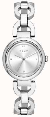 DKNY レディースイーストサイドのステンレススチール時計 NY2767