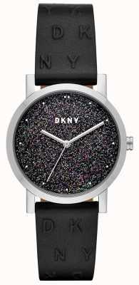 DKNY Dkny ladies soho腕時計ブラックレザーストラップ NY2775