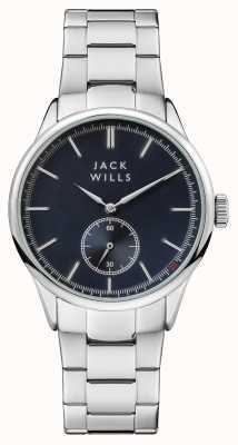 Jack Wills メンズフォスターブルーダイヤルステンレススチールブレスレット JW004BLSL