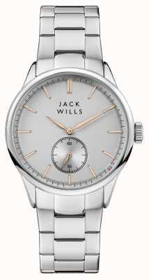 Jack Wills メンズフォスターシルバーダイヤルステンレススチールブレスレット JW004SLSL