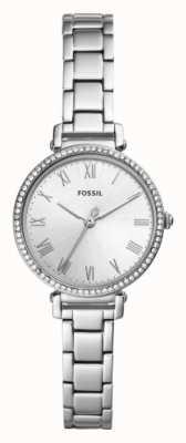 Fossil Womens kinseyステンレススティールストラップホワイトダイヤル ES4448