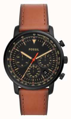 Fossil クロノグラフメンズクロノグラフステンレススチールブラックダイヤル FS5501