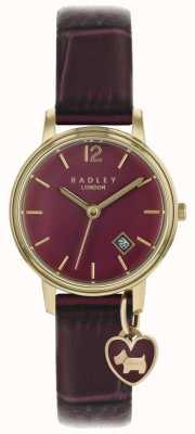 Radley レディース腕時計ローズゴールドケース紫ストラップ RY2718