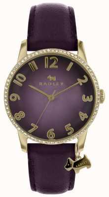 Radley ゴールドケース付きレディースパープルウォッチ RY2726
