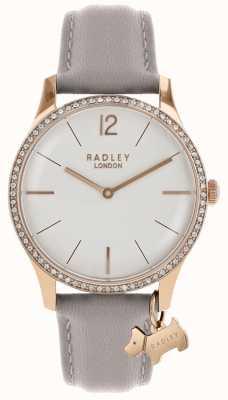 Radley レディース腕時計ローズゴールドケースアッシュレザーストラップ RY2702