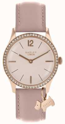 Radley レディース腕時計ローズゴールドケースクサビレザーストラップ RY2700