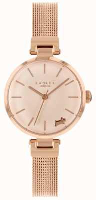 Radley レディース腕時計ローズゴールドケースメッシュブレスレット RY4360