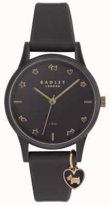 Radley レディースパープルシリコンウォッチ、淡い金マーカー付き RY2696