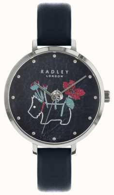 Radley レディースフラワー、ドッグプリントブラックウォッチ RY2681