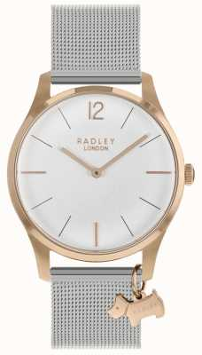 Radley レディース腕時計ローズゴールドケースシルバーメッシュストラップ RY4355