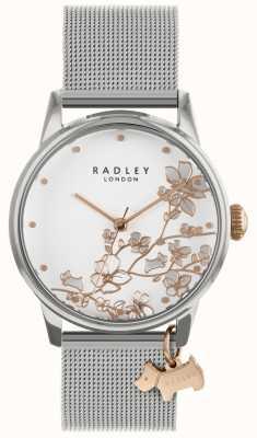 Radley レディースシルバーメッシュブレスレットホワイトダイヤル腕時計 RY4347