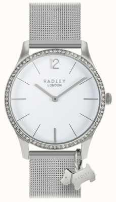 Radley レディーススワロフスキークリスタルホワイトダイヤルステンレススチール RY4353