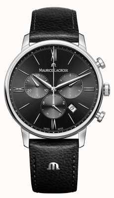 Maurice Lacroix エリオスクロノグラフメンズブラックダイヤル EL1098-SS001-310-1