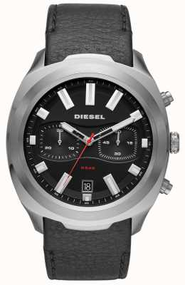 Diesel メンズタンブラーウォッチブラックレザーストラップ DZ4499