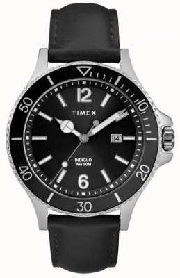 Timex |メンズ|インディグロハーバーサイド|ブラックダイヤル|黒革| TW2R64400D7PF