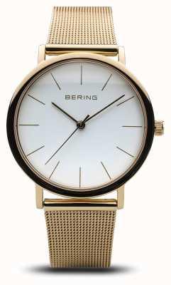Bering レディースクラシックウォッチゴールドメッシュ 13436-334