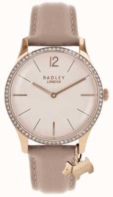 Radley レディースミルバンクピンクレザーストラップ RY2524
