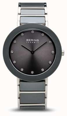Bering グレーセラミックステンレススチールブレスレットグレーダイヤル 11435-789