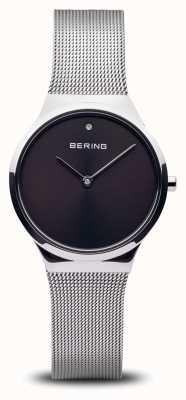 Bering クラシック 磨かれた銀色の黒い顔 12131-002