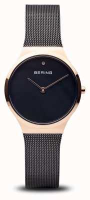 Bering クラシック 磨かれた黒いバラの金、黒い顔 12131-166