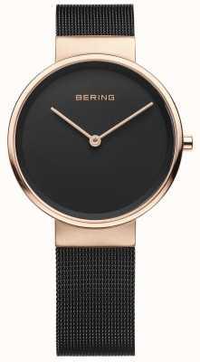 Bering ステンレススティールストラップ付きレディースアナログクオーツウォッチ 14531-166