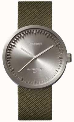 Leff Amsterdam チューブ時計d38コーデュラスチールケースグリーンストラップ LT71004