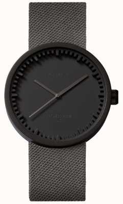 Leff Amsterdam チューブ時計d38 | |コーデュラマットブラック|グレーストラップ LT71015