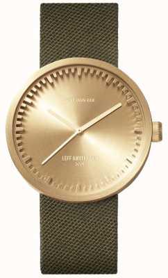 Leff Amsterdam チューブ時計d38 | |ダウンロードフリーの写真グリーンストラップ LT71024
