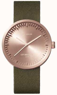 Leff Amsterdam チューブ時計d38 |ゴールドコーデュラ|グリーンストラップ LT71034