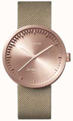 Leff Amsterdam チューブ時計d38 |ゴールドコーデュラ|サンドストラップ LT71033