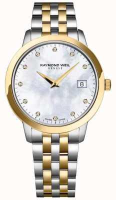 Raymond Weil レディーストッカータダイヤモンドダイヤルトーンブレスレット 5388-STP-97081