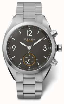 Kronaby 41mmアペックスブラックダイヤルステンレススチールブレスレットA1000-3113 S3113/1