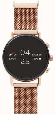 Skagen ファルスター2 gen 4スマートな時計は、金メッシュをバラ SKT5103