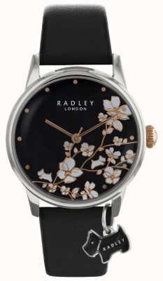 Radley ラドリーレディース|花プリント|ブラックダイヤル|レザーストラップ RY2687