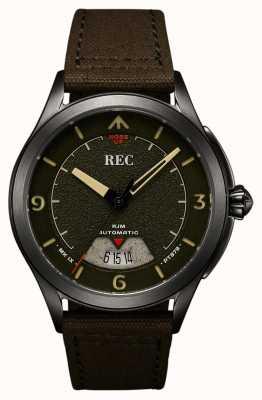 REC | pt879 mk ixスピットファイア|キャンバスストラップ|自動時計| RJM-03