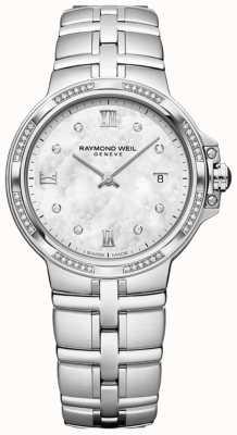 Raymond Weil パルシファルレディースクォーツクラシック| 56ダイヤモンド|真珠の母 5180-STS-00995