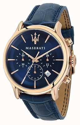Maserati メンズエポカ42mm |ブルーダイヤル|ブルーレザーストラップ R8871618007