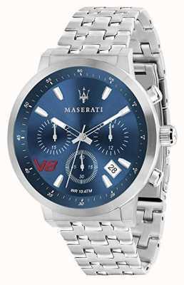 Maserati メンズgt 44mm |ブルーダイヤル|シルバーステンレススチールブレスレット R8873134002