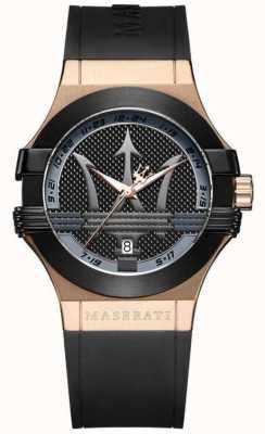 Maserati メンズポテンザアナログ|ブラックダイヤル|ブラックレザーストラップ R8851108002