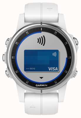Garmin フェニックス5秒プラスホワイトラバーストラップ付きサファイアホワイト 010-01987-01