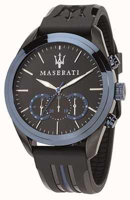 Maserati メンズトラガードクロノグラフ|ブルーダイヤル|黒いシリコーン R8871612006