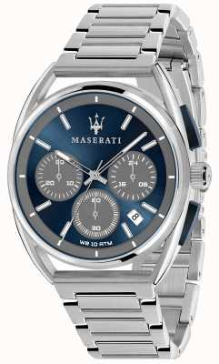 Maserati メンズトリマラーノ41mm |ブルーダイヤル|ステンレス製のブレスレット R8873632004