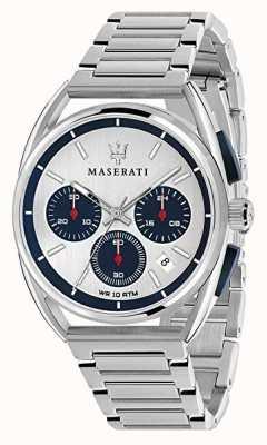 Maserati メンズトリマラーノ41mm |シルバー/ブルーダイヤル|ステンレス鋼 R8873632001