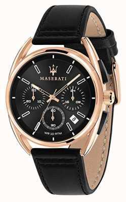 Maserati メンズトリマラーノ41mm |ローズゴールドケース|ブラックダイヤル| R8871632002