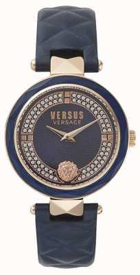 Versus Versace レディースコベントガーデン|写真レディースコベントガーデンブルースワロフスキーダイヤル|ベクターイラスト| CLIPARTOブルーレザー VSPCD2817
